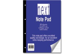 NOTE PAD 21x29 NEXT WITH HOLES